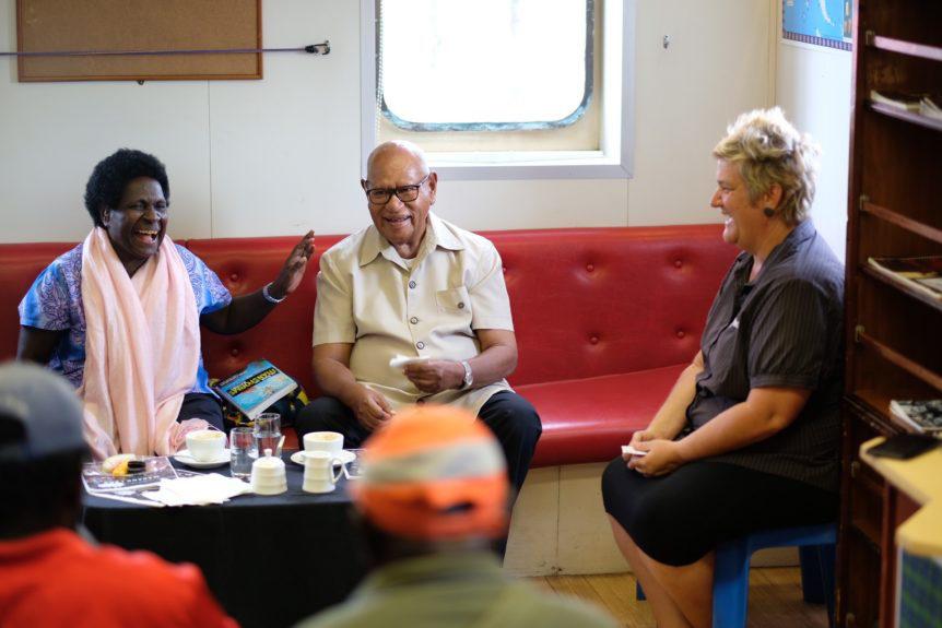 Bougainville president tours YWAM Ships